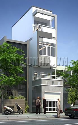 nhà phố 2.9 x 12 4 tầng MNP-00003