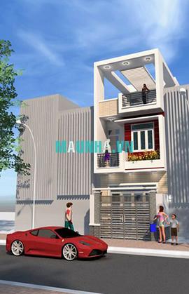 nhà phố 4 x 18 2,5 tầng MNP-00005