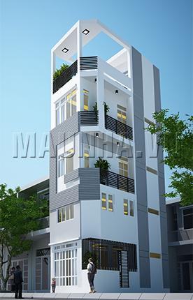 nhà phố 2.9 x 7.5 4,5 tầng MNP-00040