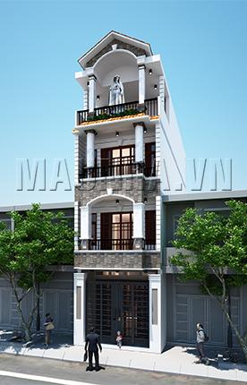 nhà phố 4.4 x 13.2 3,5 tầng MNP-00041