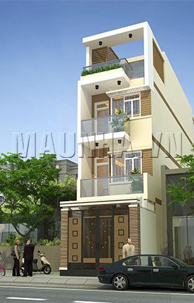 nhà phố 4 x 16 3,5 tầng MNP-00045