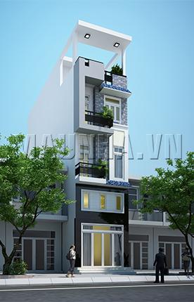 nhà phố 4 x 14.3 4,5 tầng MNP-00046
