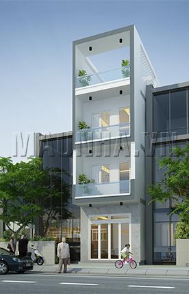 nhà phố 4 x 15.5 3,5 tầng MNP-00048