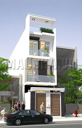 nhà phố 4 x 18.5 3,5 tầng MNP-00049