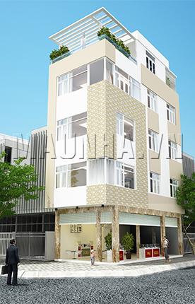 nhà phố 4.2 x 10 4,5 tầng MNP-00054