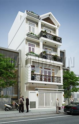 nhà phố 6.1 x 18.5 4,5 tầng MNP-00062