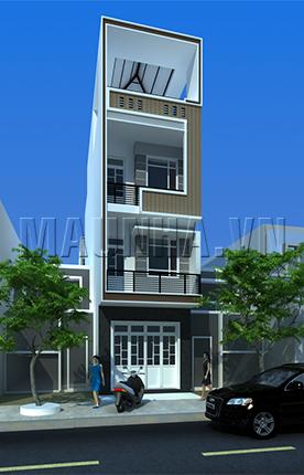 nhà phố 3.9 x 17.4 3,5 tầng MNP-00190