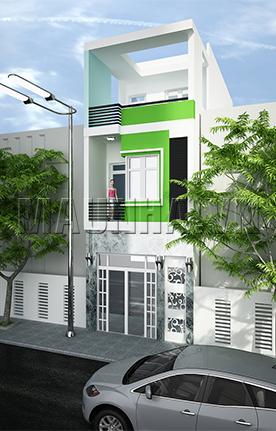 nhà phố 4 x 12 2,5 tầng MNP-00203