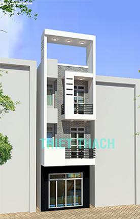 nhà phố 4 x 15.5 3 tầng MNP-00207