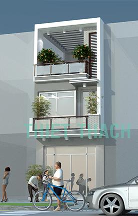 nhà phố 4 x 16.9 2,5 tầng MNP-00208