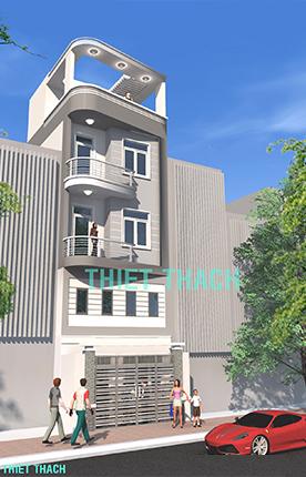 nhà phố 5.1 x 8.9 4,5 tầng MNP-00210
