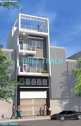 nhà phố 5.1 x 10.7 4 tầng MNP-00211